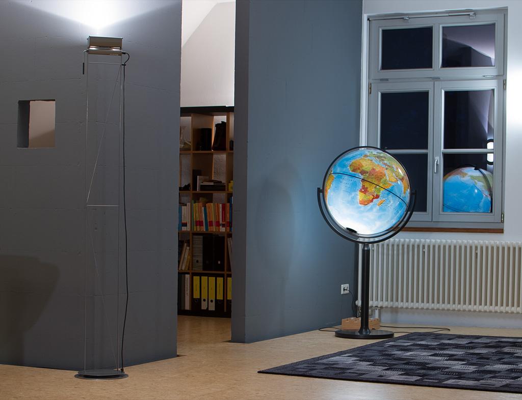 gro globen riesen globus mit licht standglobus mit beleuchtung leuchtglobus ebay. Black Bedroom Furniture Sets. Home Design Ideas